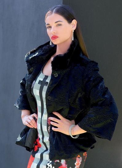 Giubbotto con collo in pelliccia Cannella autunno inverno 2014