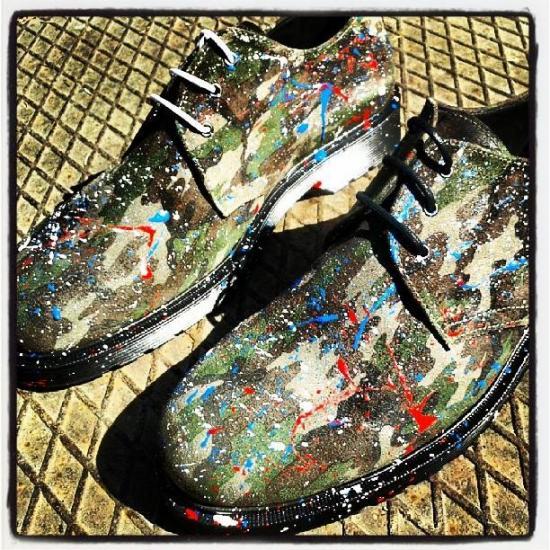M2.0 Fucking shoe scarpe con spruzzo di vernice