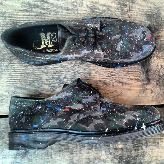 M2.0 Fucking shoe scarpe mimetiche con spruzzo di vernice