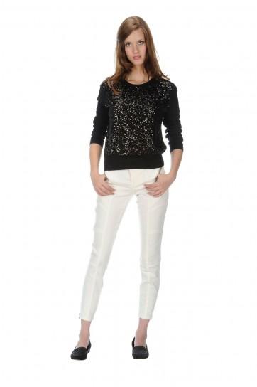 Pantaloni bianchi Stefanel autunno inverno 2014
