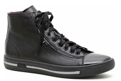 Sneakers alti in pelle Nero Giardini autunno inverno 2014