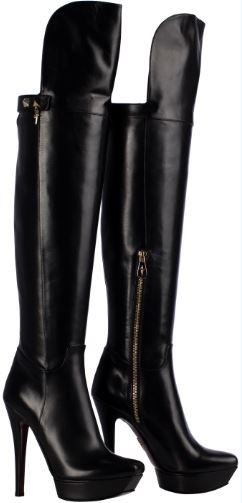 Stivali in nappa nera Cesare Paciotti autunno inverno