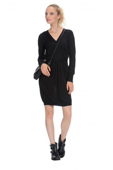Vestito nero in cashmere Stefanel autunno inverno 2014