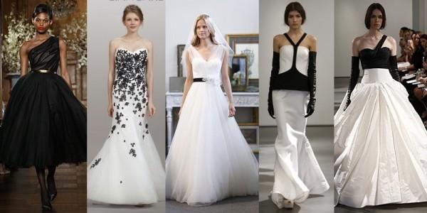 Abiti sposa 2016 tendenze vestiti da sposa primavera estate 2014 abiti con nero