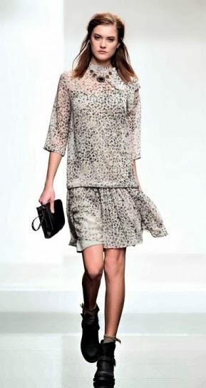 Abito maculato collezione abbigliamento Twin Set autunno inverno 2014