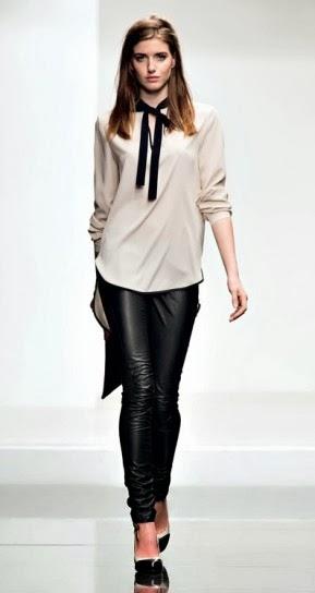 Blusa e pantalone ecopelle collezione abbigliamento Twin Set autunno inverno 2014