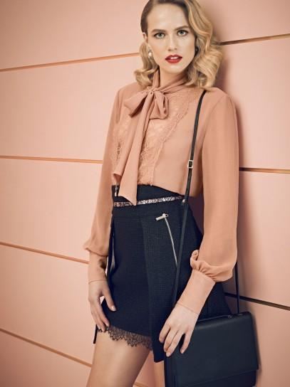 Camicia con fiocco Elisabetta Franchi collezione autunno inverno 2014