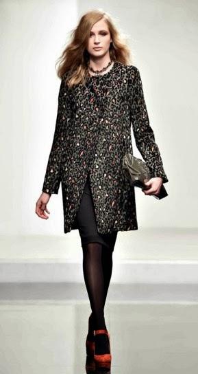 Cappotto animalier collezione abbigliamento Twin Set autunno inverno 2014