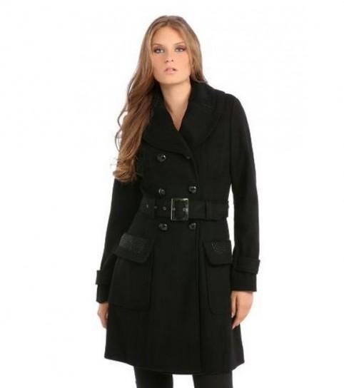 Cappotto nero Guess autunno inverno 2014