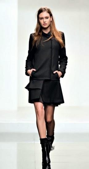 Cappotto nero collezione abbigliamento Twin Set autunno inverno 2014