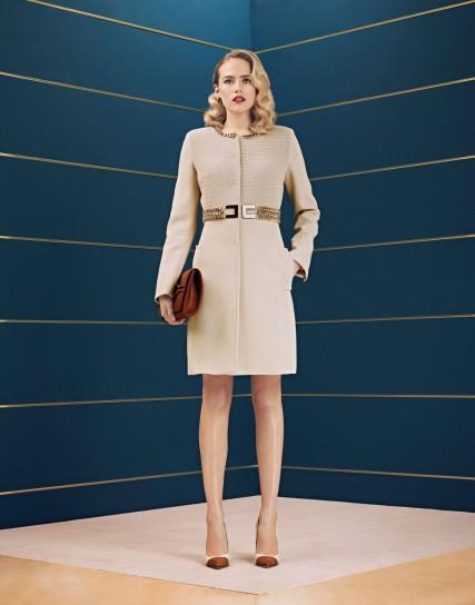 Coatdress con inserti dorati Elisabetta Franchi collezione autunno inverno 2014