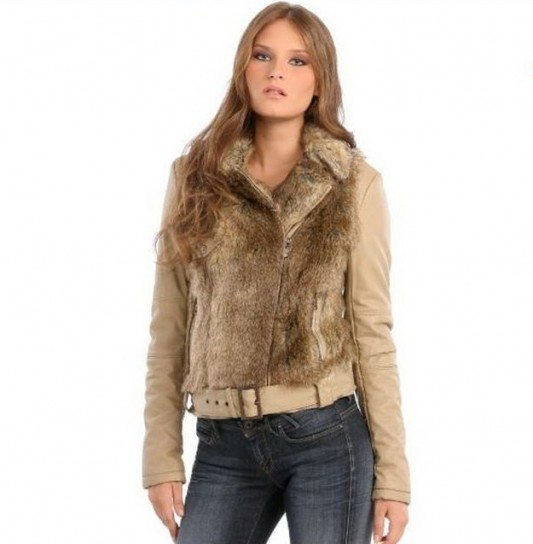 Giacca in ecopellicia Guess autunno inverno 2014