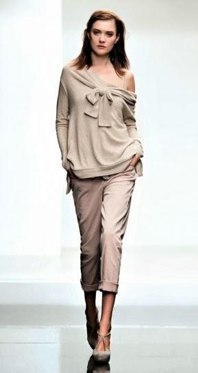 Maglia con fiocco e pantacapr collezione abbigliamento Twin Set autunno inverno 2014