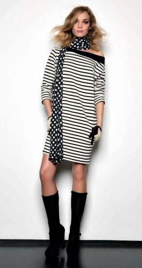 Maxi pull a righe collezione abbigliamento Twin Set autunno inverno 2014