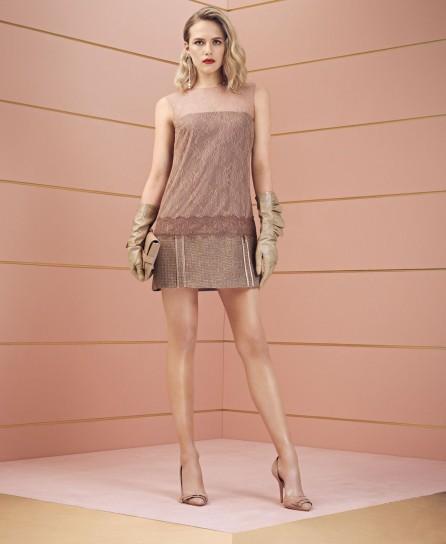 Minidress in pizzo Elisabetta Franchi collezione autunno inverno 2014