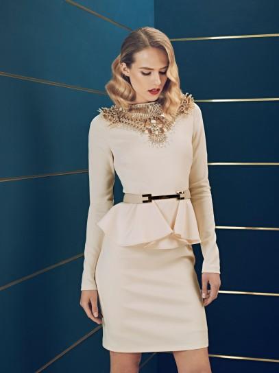 Peplum dress Elisabetta Franchi collezione autunno inverno 2014