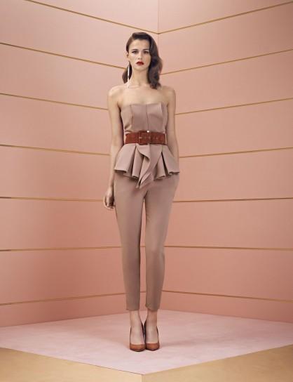 Top strapless con volant Elisabetta Franchi collezione autunno inverno 2014