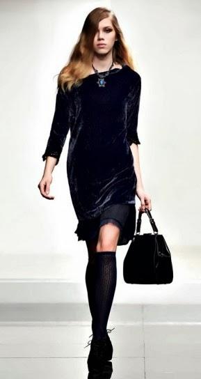 Velvet dress collezione abbigliamento Twin Set autunno inverno 2014