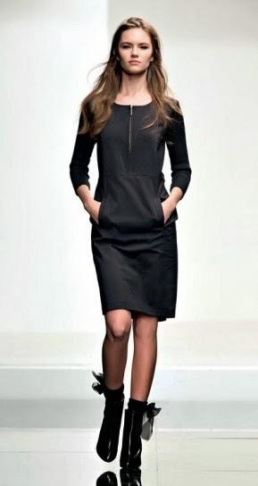 Vestito con zip e tasche collezione abbigliamento Twin Set autunno inverno 2014