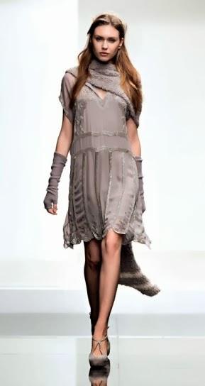 Vestito grigio collezione abbigliamento Twin Set autunno inverno 2014