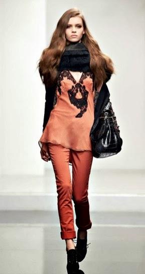 top con pizzo collezione abbigliamento Twin Set autunno inverno 2014