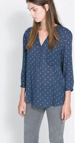 Camicia a pois Zara primavera estate 2014