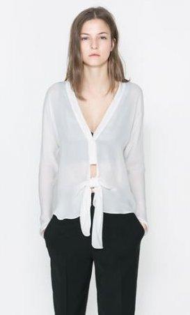 Camicia con alacciatura Zara primavera estate 2014