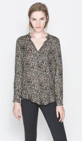 Camicia leopardata Zara primavera estate 2014