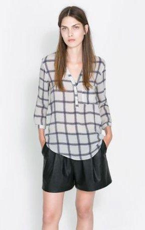 Camicia quadri Zara primavera estate 2014
