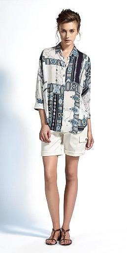 Camicia stampata Alviero Martini 1a Classe primavera estate 2014 donna