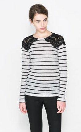 Maglietta a righe Zara primavera estate 2014