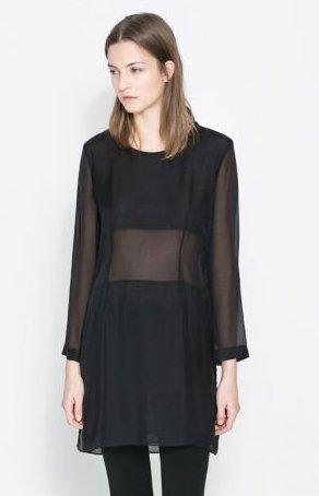 Mini abito trasparente Zara primavera estate 2014
