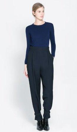 Pantaloni vita alta Zara primavera estate 2014
