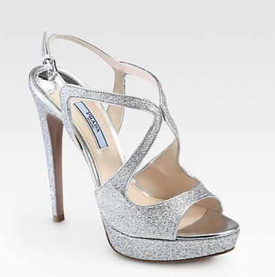 Sandali glitter Prada primavera estate 2014