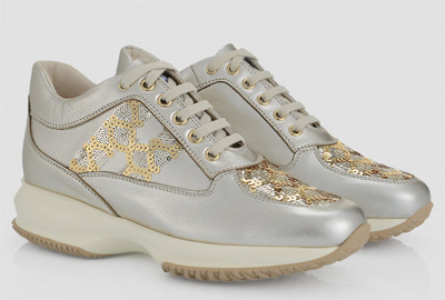 Sneakers interactive sequined leather Hogan primavera estate 2014