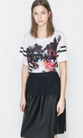 T-shirt stampato Zara primavera estate 2014