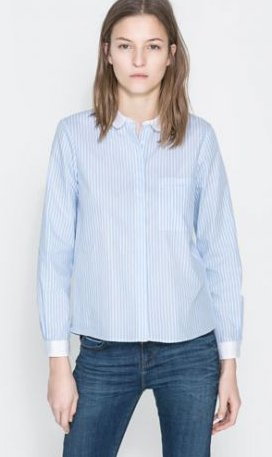 Camicia a righe Zara primavera estate 2014