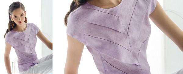 Nara Camicie primavera estate 2016 camicia lino con balze