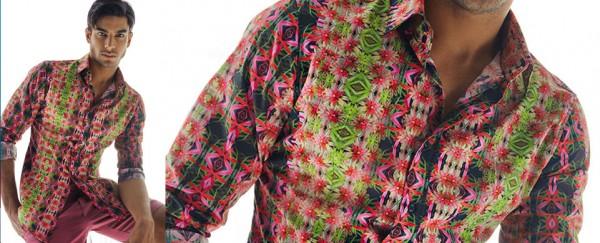 Nara Camicie primavera estate 2016 camicia uomo stampata