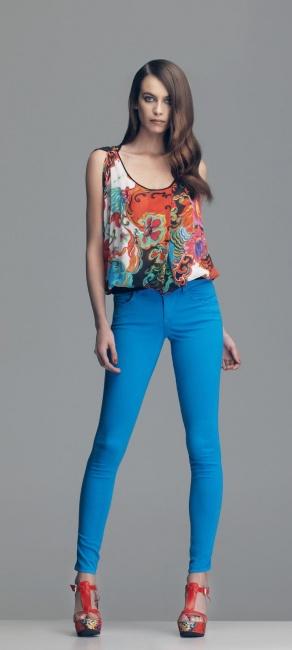 Pantaloni skiny Fornarina primavera estate 2014