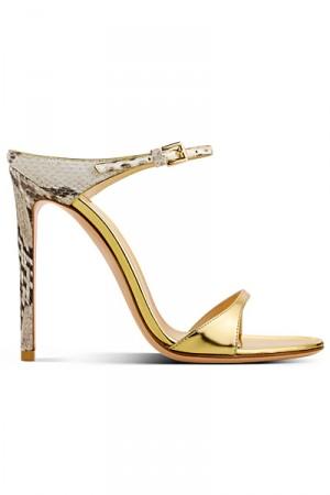 Sandali in pelle di retile Sergio Rossi primavera estate 2014