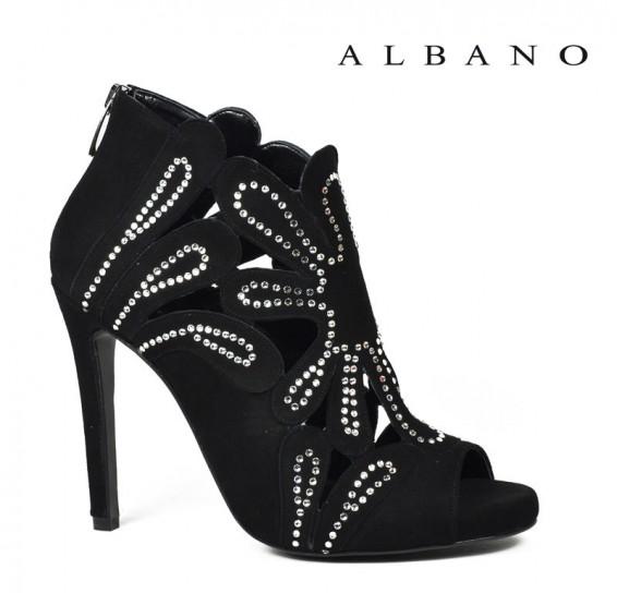 Ankle boots nero con strass Albano primavera estate