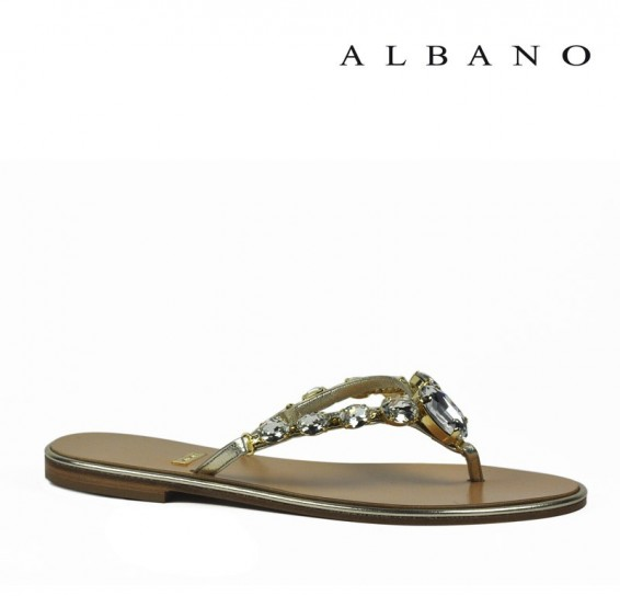 Sandaletto gioiello a infradito Albano primavera estate