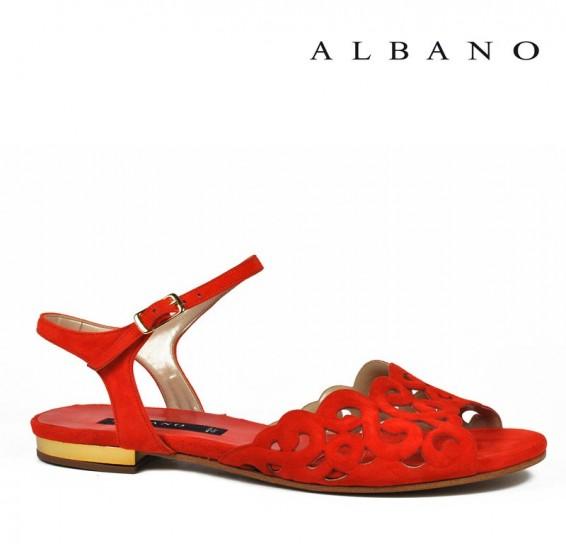 Sandaletto rosso Albano primavera estate