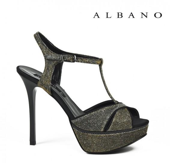 Sandalo scuro glitterato Albano primavera estate