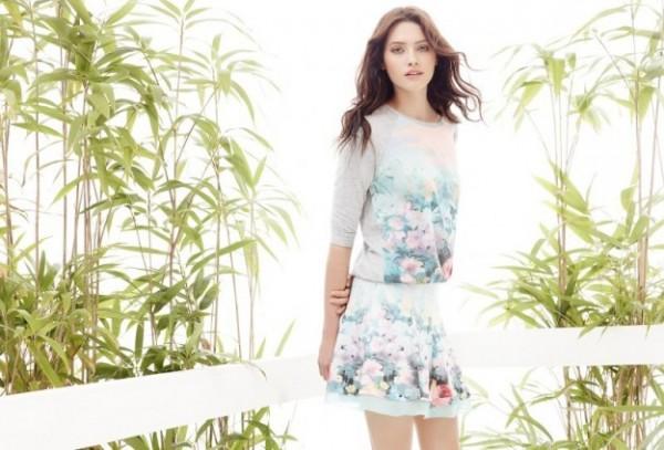 Maglia e gonna fiori Motivi primavera estate 2014