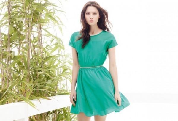 Vestito verde Motivi primavera estate 2014