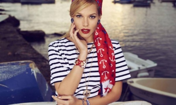 Accessori Bijou Brigitte in stile navy