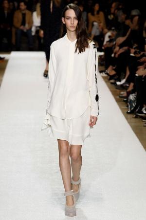 Camicia bianca Chloé autunno inverno 2014 2015