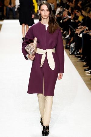 Cappotto con cintura Chloé autunno inverno 2014 2015
